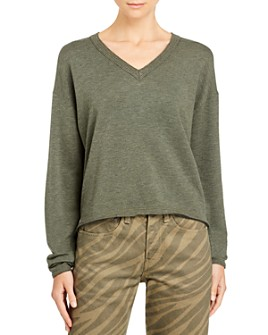 rag & bone - Surplus Distressed-Trim Sweater