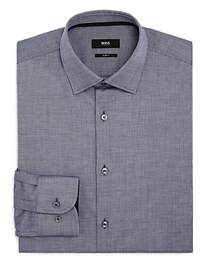 Boss Jesse Micro Check Slim Fit Dress Shirt