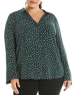 Estelle Plus - Garden Pebble Button-Down Shirt