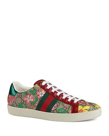 Gucci - Women's Ace GG Flora Sneakers
