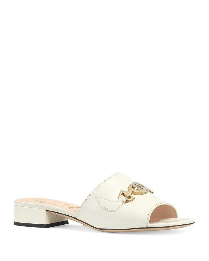 Gucci - Women's  Zumi Leather Slide Sandals