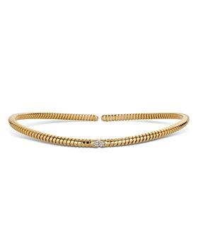 Marina B - 18K Yellow Gold Trisolina Pavé Diamond Collar Necklace