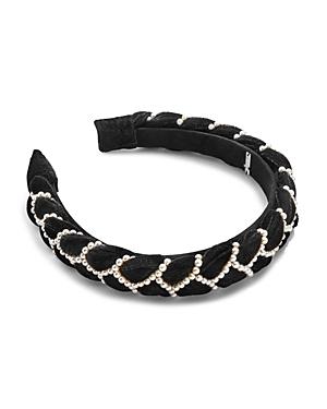 Baublebar Lane Braided Velvet & Simulated Pearl Headband