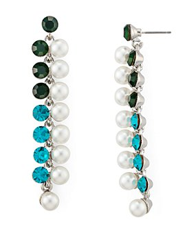 AQUA - Simulated Pearl Linear Drop Earrings - 100% Exclusive