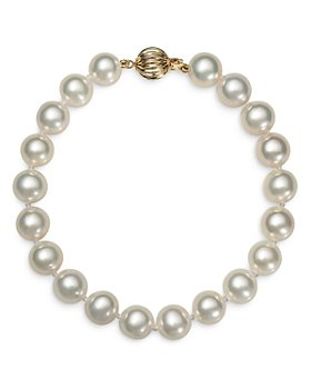 Bloomingdale's - Cultured Freshwater Pearl Bracelet in 14K Yellow Gold - 100% Exclusive