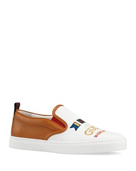 Gucci - Dublin Embellished Slip-On Sneakers