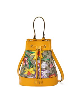 Gucci - Ophidia GG Flora Small Bucket Bag