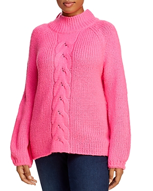 Aqua Curve Cable-Knit Sweater - 100% Exclusive