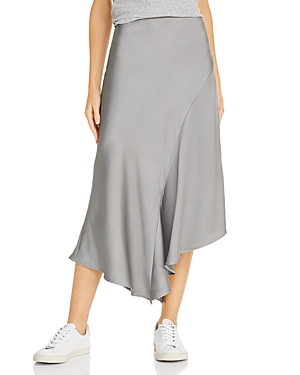 Anine Bing Bailey Asymmetric Satin Midi Skirt