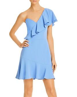Amanda Uprichard - McKinnon Ruffled One-Shoulder Mini Dress