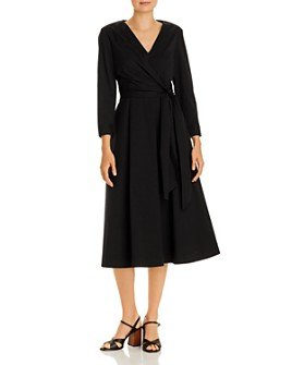 Lafayette 148 New York - Olivia Ruched Faux Wrap Dress
