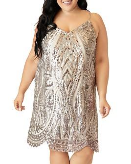 Maree Pour Toi Plus - Sleeveless Sequined Dress