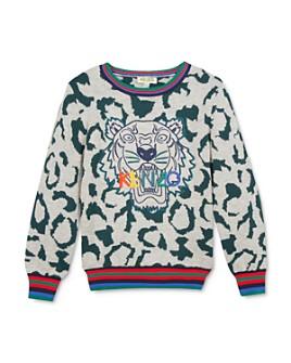 Kenzo - Boys' Leopard-Pattern Logo Sweater - Little Kid