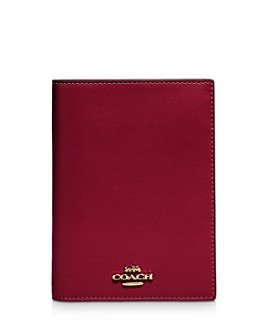 COACH - Leather Passport Case