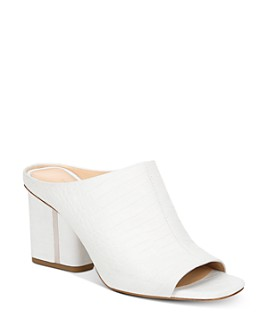 Via Spiga - Women's Hennie Croc-Embossed Block Heel Mules