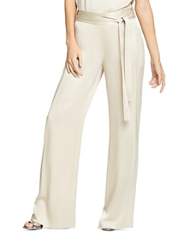 HALSTON - Flowing Wide-Leg Pants