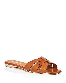 Saint Laurent - Women's Nu Pieds Leather Slide Sandals