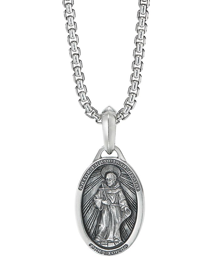 David Yurman - Sterling Silver St. Francis Amulet