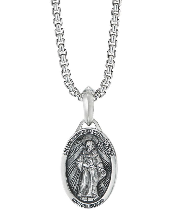 David Yurman Sterling Silver St. Francis Amulet    Bloomingdale's