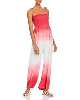 AQUA - Tie-Strap Dip-Dye Jumpsuit - 100% Exclusive