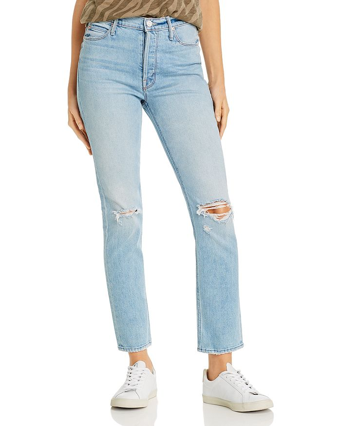 MOTHER - The Dazzler Button Fly Ankle Straight-Leg Jeans in Really Intoxicated
