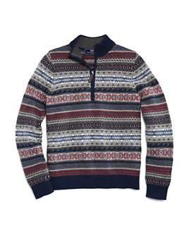 Vineyard Vines - Boys' Fair Isle Sweater - Little Kid, Big Kid
