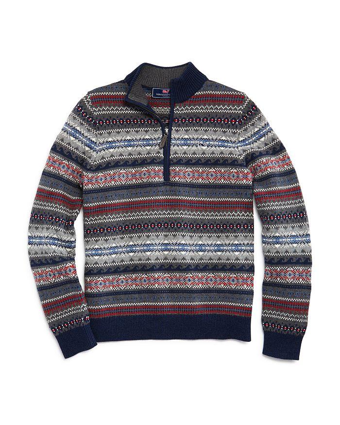 Vineyard Vines - Boys' Fair Isle Sweater - Little Kid, Big Kid
