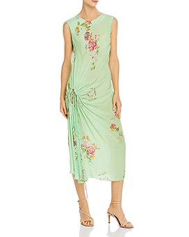 Preen Line - Aida Shirred Floral Midi Dress