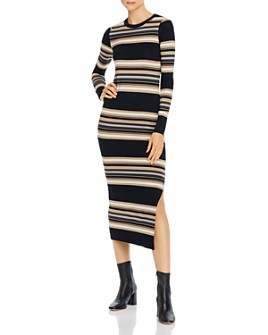 FRENCH CONNECTION - Sweeter Ribbed & Striped Sweater Dress