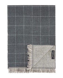 The Men's Store at Bloomingdale's - Reversible Windowpane/Chevron Scarf - 100% Exclusive