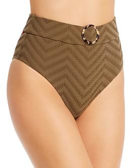Red Carter - Chevron High-Leg High-Waist Bikini Bottom