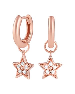 Olivia Burton Celestial Huggie Hoop Earrings in Sterling Silver or Rose Gold-Plated Sterling Silver