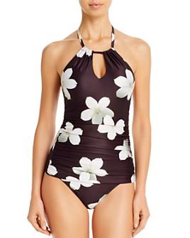 Lauren - Villa Floral Halter Tankini Top & Villa Floral Hipster Bikini Bottom