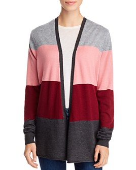 Avec - Color-Block Open Cardigan
