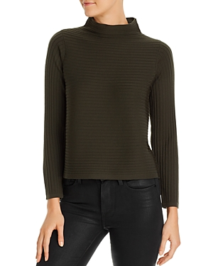 Eileen Fisher Sweaters RIBBED FUNNEL-NECK SWEATER