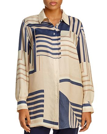 Lafayette 148 New York Plus - Michelle Printed Tunic Blouse