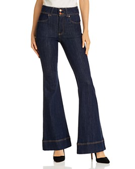 Alice and Olivia - Beautiful High-Rise Bell Bottom Jeans in She's Got It