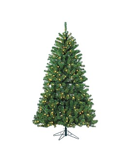 Gerson Company - 7.5 ft. Montana Pine with Warm White LED Lights