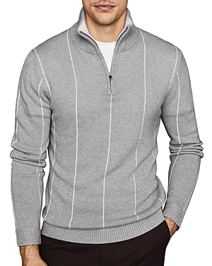 Reiss Sweaters INNIS STRIPED PARTIAL-ZIP SWEATER
