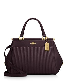 COACH - Grace Quilted Leather Satchel