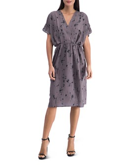 B Collection by Bobeau - Akner Tie-Dyed Faux Wrap Dress