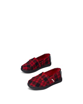 TOMS - Unisex Alpargata Plaid Flats - Baby, Walker, Toddler