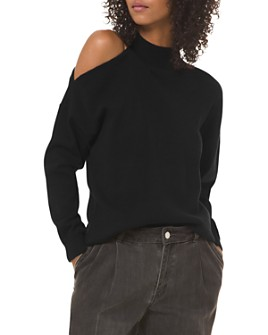 MICHAEL Michael Kors - Cold-Shoulder Mock-Neck Sweater
