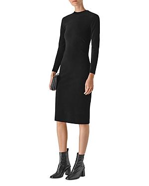 Whistles Cord Velvet Jersey Dress