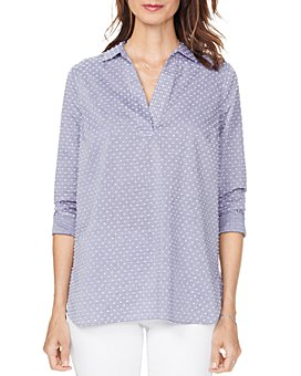 NYDJ - Dotted Popover Tunic Top
