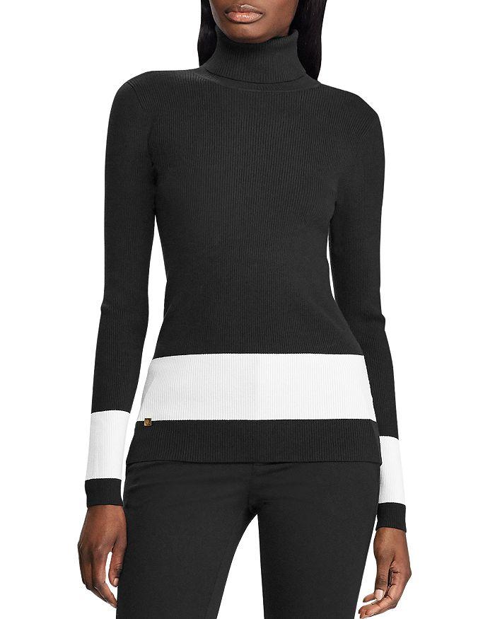 Ralph Lauren - Border-Stripe Turtleneck Sweater