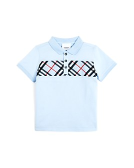Burberry - Boys' Jeff Check Panel Polo Shirt - Little Kid, Big Kid