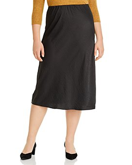 B Collection by Bobeau Curvy - Lyndon Bias-Cut Midi Skirt