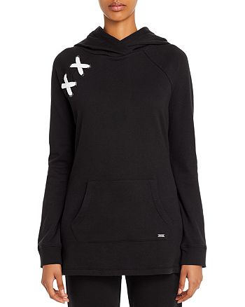 Marc New York - Lace-Up Tunic Hoodie