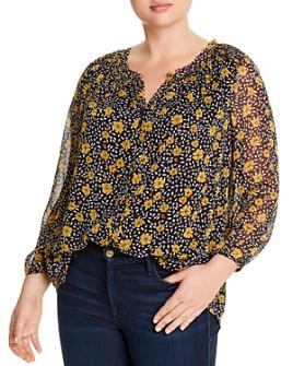 Daniel Rainn Plus - Floral Print Pullover Blouse